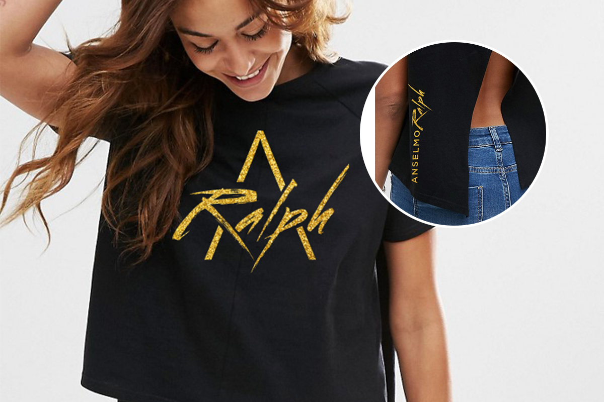 Black top with open back Ralph Merchandising by Louder Branding