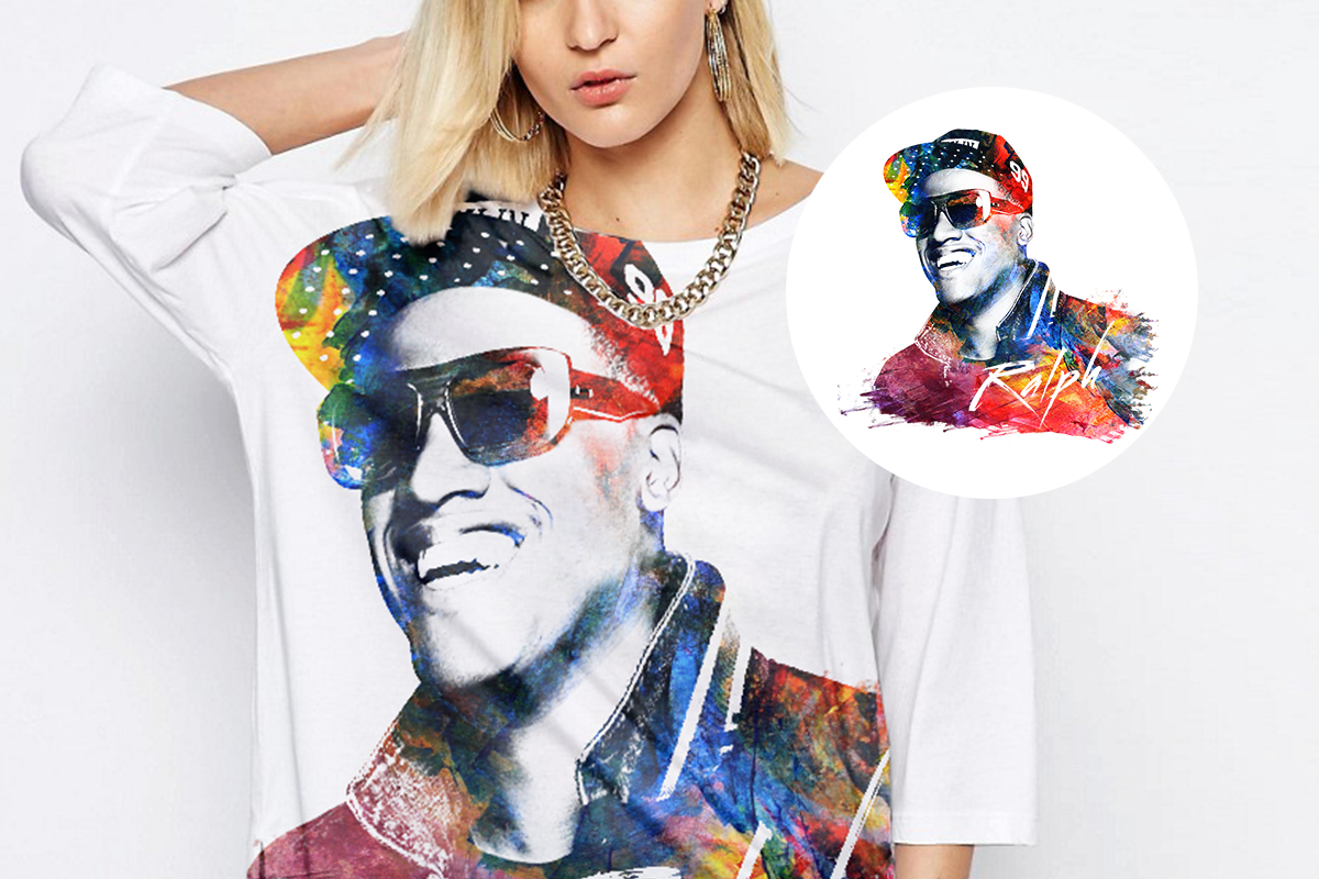 Long sleeves shirt with Anselmo Ralph image Merchandising by Louder Branding
